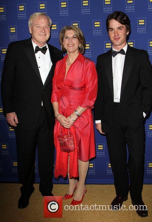 Chris and Kathleen Mathews with their son 2012...