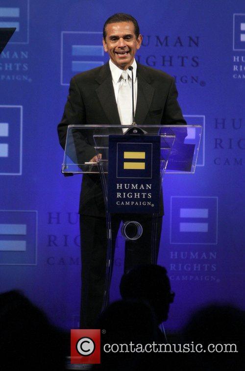 Los Angeles Mayor Antonio Villaraigosa 2012 Human Rights...