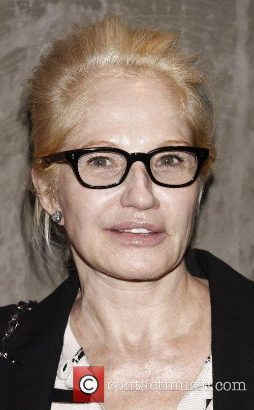 Ellen Barkin attending a celebration for the Off-Broadway...