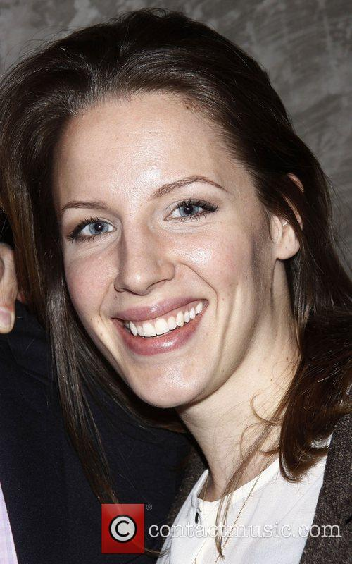 Jessie Mueller attending a celebration for the Off-Broadway...