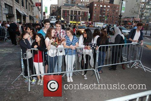 Fans waiting on the street before a Special...