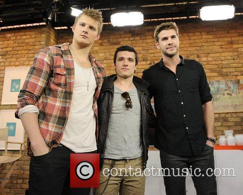Alexander Ludwig, Josh Hutcherson and Liam Hemsworth 2