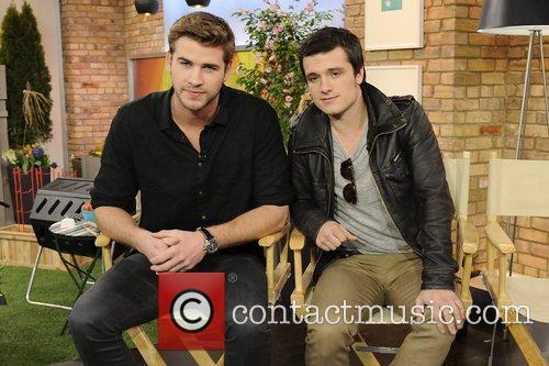 Liam Hemsworth and Josh Hutcherson  'The Hunger...