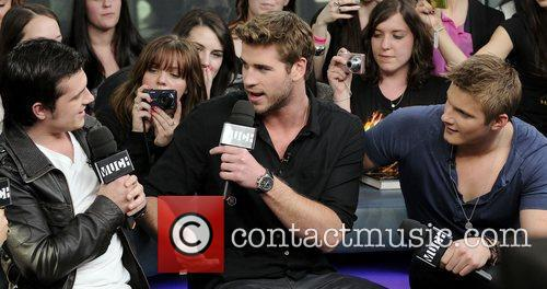 Josh Hutcherson, Alexander Ludwig and Liam Hemsworth 2