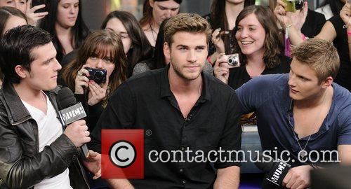 Josh Hutcherson, Alexander Ludwig and Liam Hemsworth 3