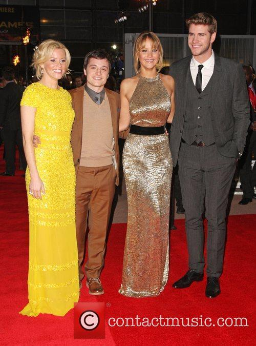 Elizabeth Banks, Jennifer Lawrence, Josh Hutcherson, Liam Hemsworth