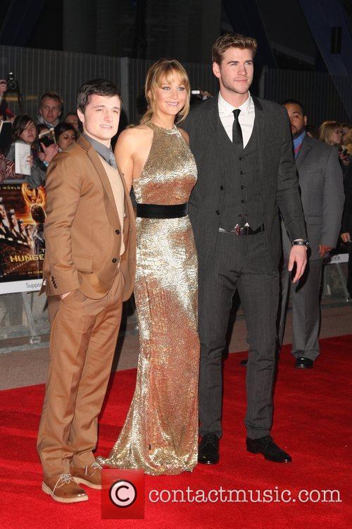 Josh Hutcherson, Jennifer Lawrence and Liam Hemsworth 2