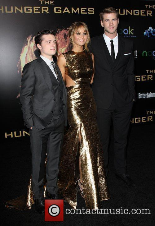 Josh Hutcherson, Jennifer Lawrence and Liam Hemsworth 6