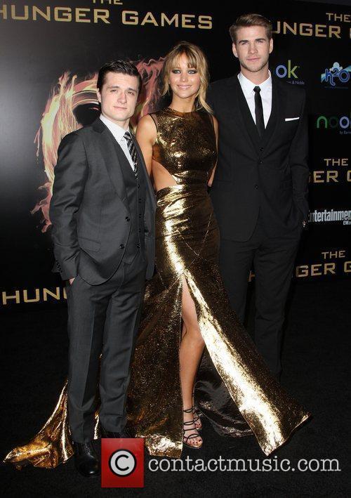 Josh Hutcherson, Jennifer Lawrence and Liam Hemsworth 1