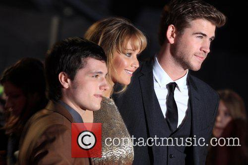 Josh Hutcherson, Jennifer Lawrence and Liam Hemsworth 4