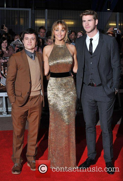 Jennifer Lawrence, Josh Hutcherson and Liam Hemsworth 11