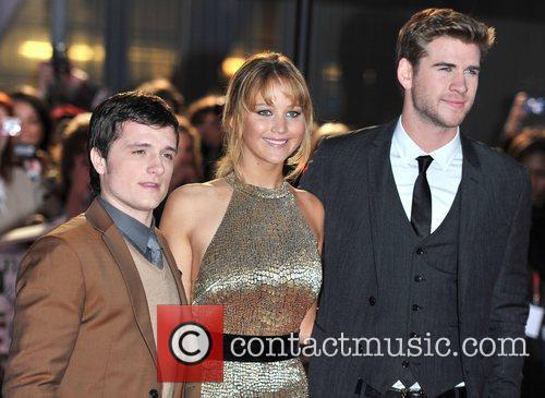Josh Hutcherson, Jennifer Lawrence and Liam Hemsworth 8