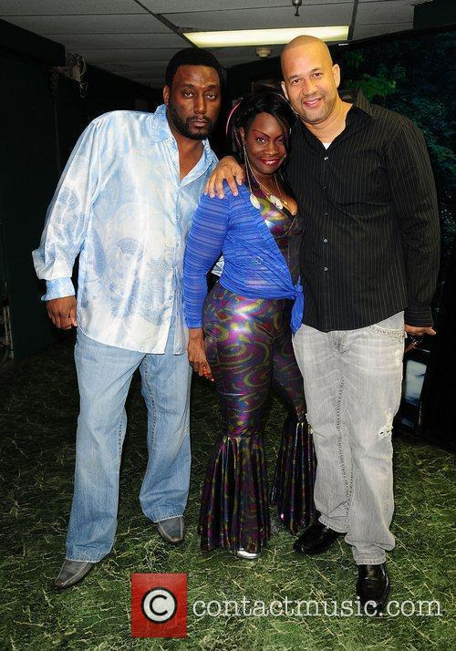 Big Daddy Kane, Alyson Williams and Pierre backstage...