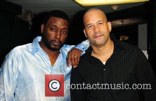 Big Daddy Kane and Pierre  backstage at...