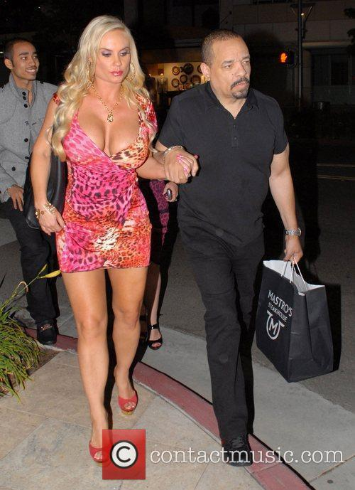 Ice -T and Coco leave Mastro's restaurant in...