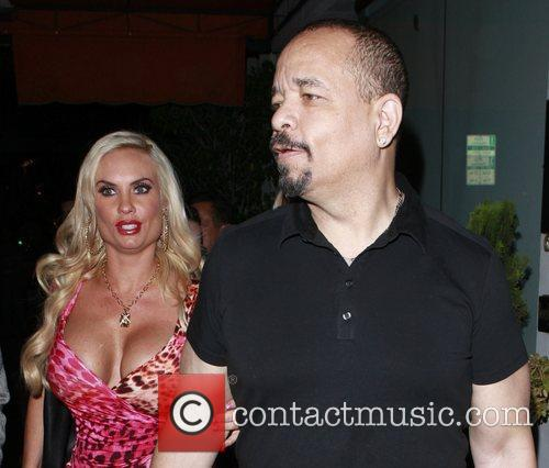 Ice-T and Coco leave Mastro's restaurant in Beverly...