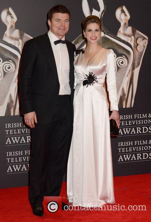 Brian O'Driscoll and Amy Huberman The Irish Film...