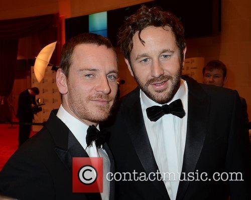 Chris O'Dowd and Michael Fassbender The Irish Film...