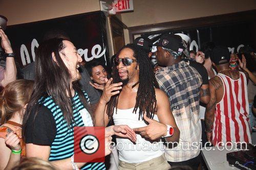 Steve Aoki and Lil Jon The Illmore Mansion...