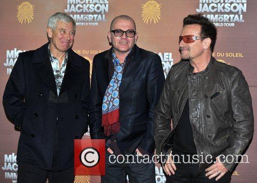 Adam Clayton and Bono