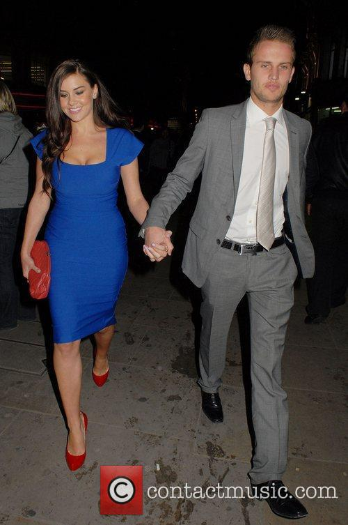 Imogen Thomas and Adam Horsley leaving The Prince...