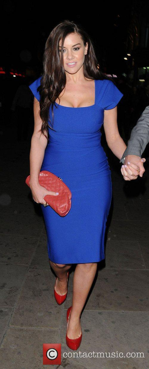 Imogen Thomas seen leaving the Prince of Wales...