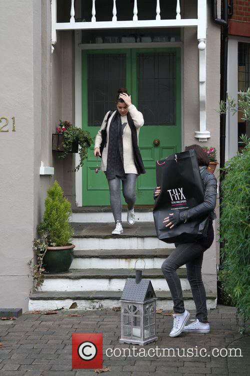 Pregnant Imogen Thomas and Adam Horsely prepare to...