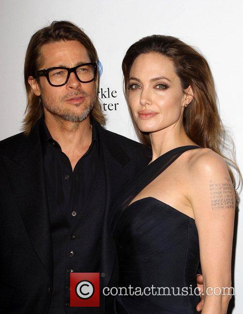Angelina Jolie and Brad Pitt The premiere of...
