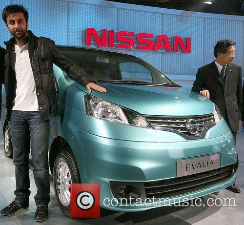 Bollywood actor Ranvir Kapoor  Auto Expo in...