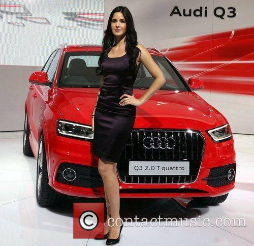 Bollywood actress Katrina Kaif  Auto Expo in...