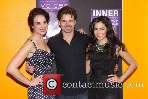 Alexandra Silber, Hunter Foster and Arielle Jacobs...