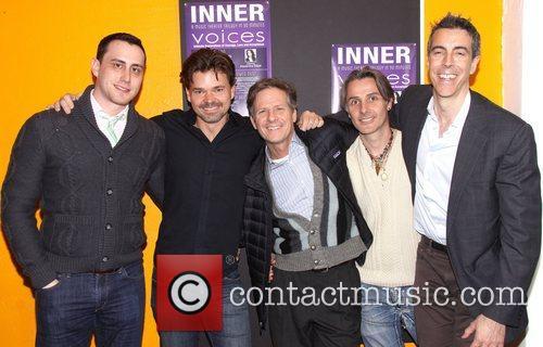 Paul Masse, Hunter Foster, Martin Moran, Jonathan Butterell and Joseph Thalken 2