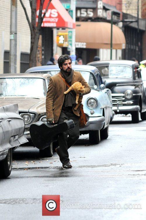 On the set of 'Inside Llewyn Davis' filming...