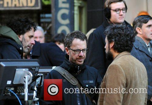 Ethan Coen, Joel Coen and Oscar Isaac 2