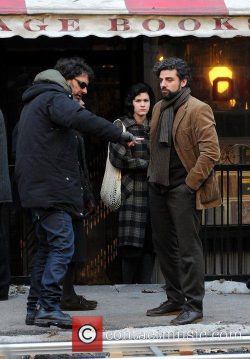 Joel Coen and Oscar Isaac 2