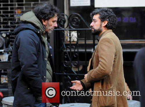 Joel Coen and Oscar Isaac 4