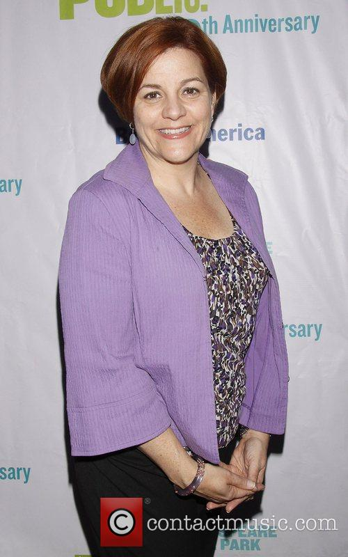 Christine Quinn Opening night of the Public Theater...