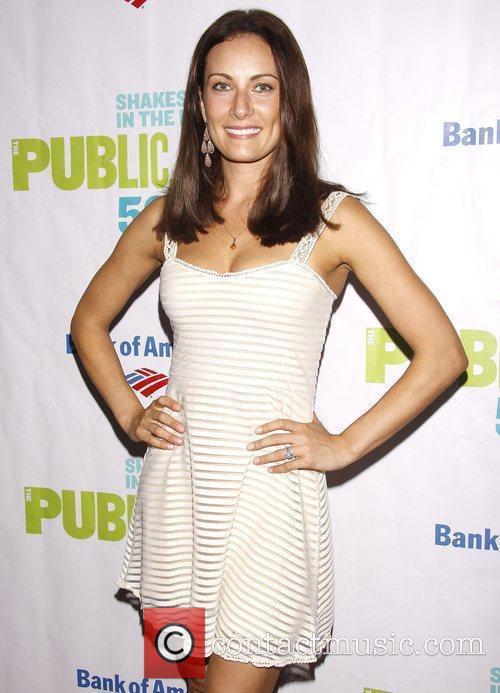 Laura Benanti Opening night of the Public Theater...