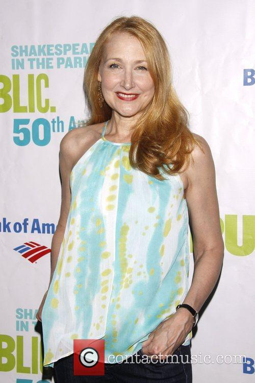 Patricia Clarkson Opening night of the Public Theater...