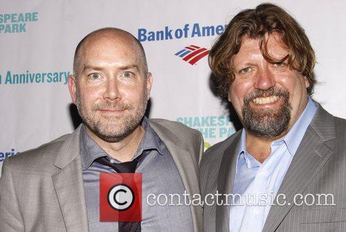 Patrick Willingham and Oskar Eustis Opening night of...