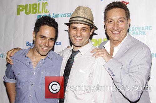 Rajiv Joseph, Arian Moayed and Moises Kaufman Opening...