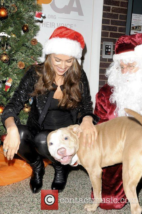 With Santa at the ASPCA shelter in New...