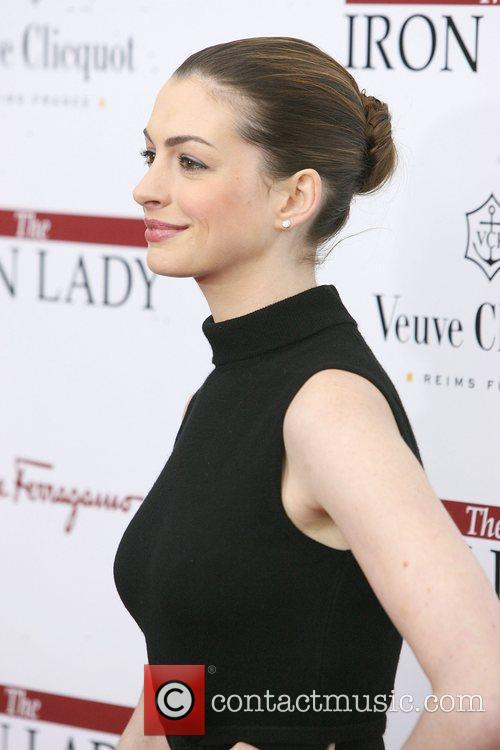 Anne Hathaway at the New York premiere of...