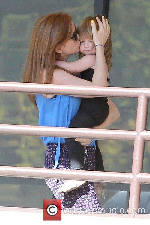 Isla Fisher and daughter Elula Lottie Miriam Cohen...