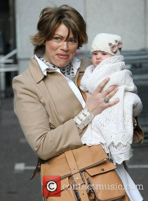Kate Silverton with her daughter Clemency at the...