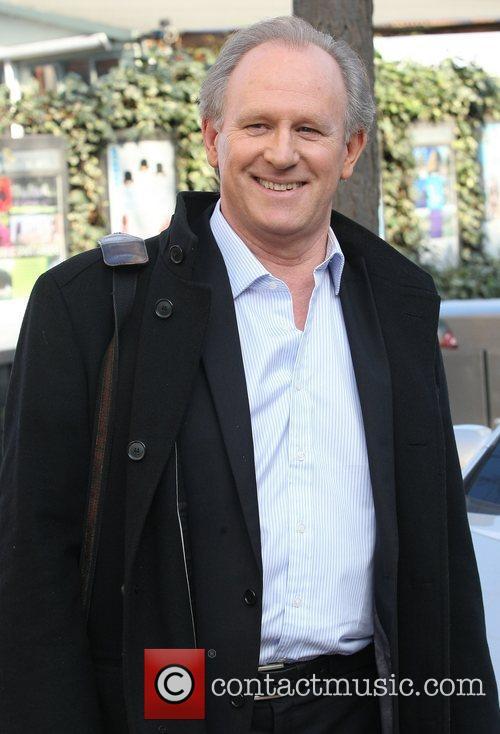 Peter Davison outside the ITV studios London, England