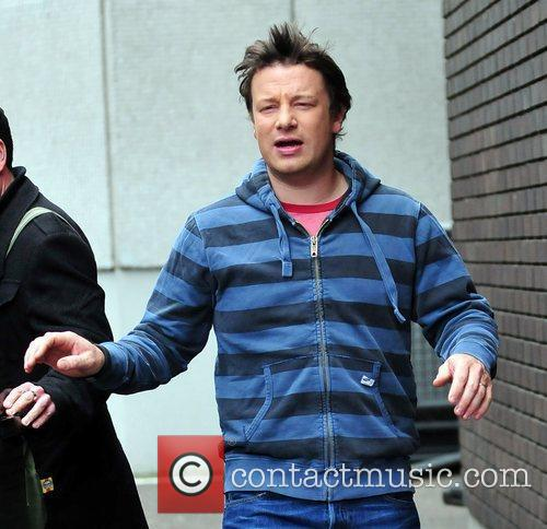 Jamie Oliver arrives at the ITV studios London,...