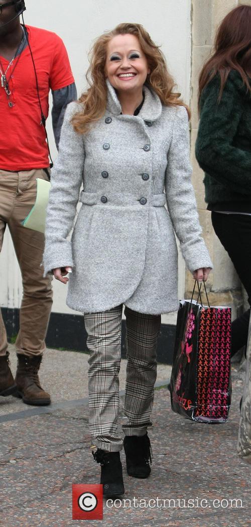 Sonia Evans Celebrities outside the ITV studios...