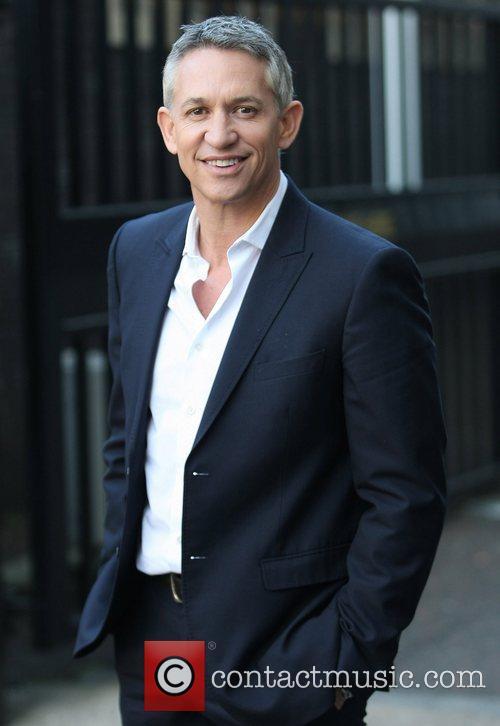 Gary Lineker outside the ITV studios London, England