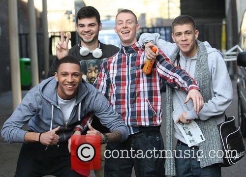 The Mend leave the ITV studios London, England
